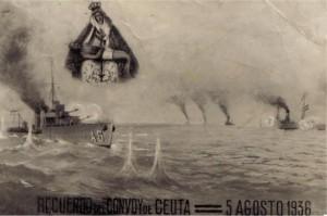 Recuerdo del convoy de la Victoria. Fuente: http://usuaris.tinet.cat/jcgg/H_Historicos/Convoy%20de%20la%20Victoria%201.936.jpg