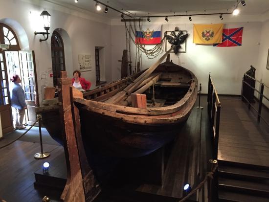 Una de las embarcaciones del museo Botik.