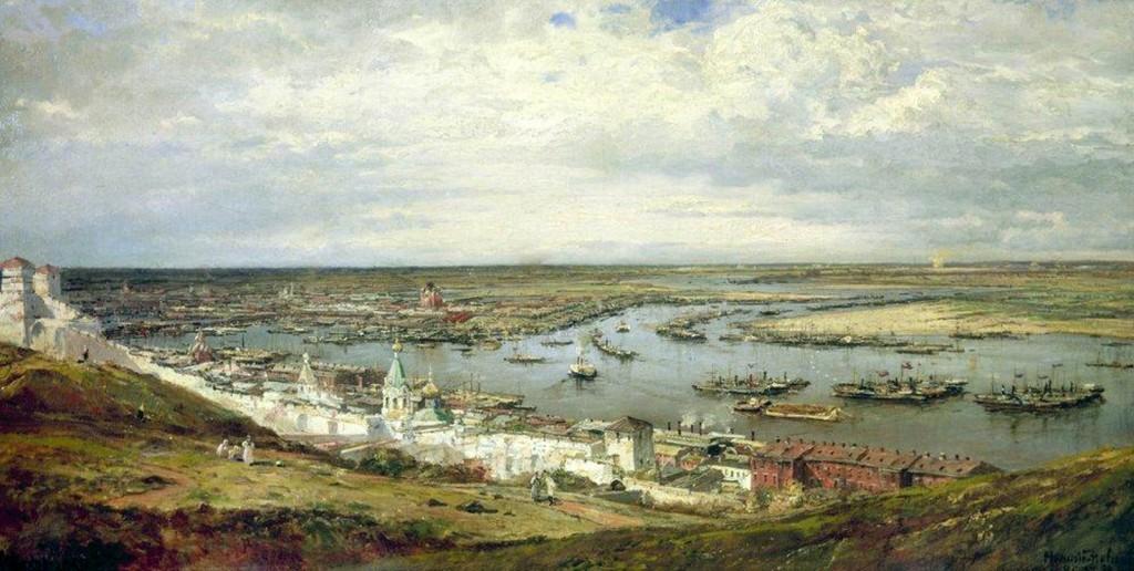 Novgorod pintada por Alexey Petrovich Bogolyubov en el siglo XIX. Fuente: allart.biz