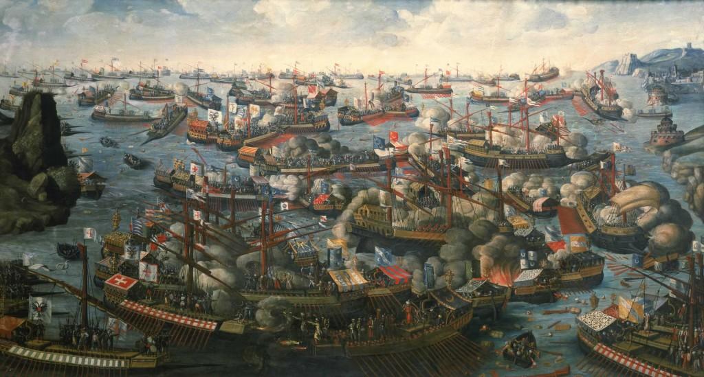 Representación de la batalla de Lepanto (1571)