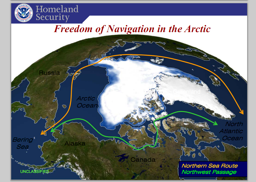 Imagen de las rutas del Nordeste y el Noroeste aproximadas. Extraída de Climatología por un geografo