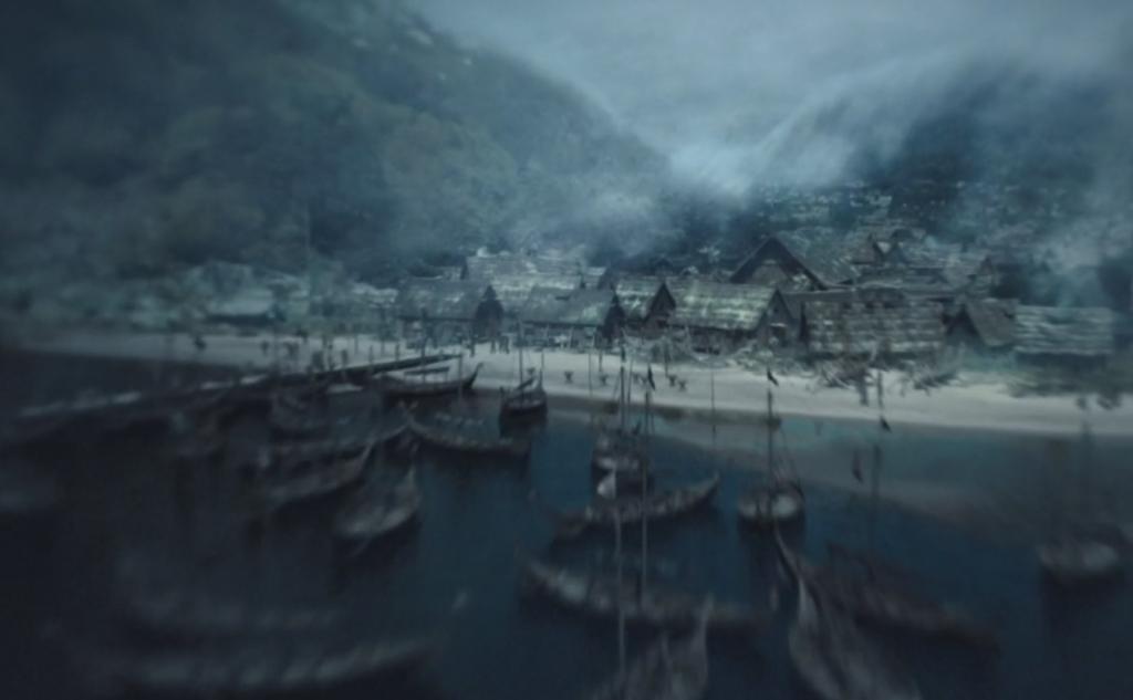 Kattegat y su puerto a rebosar de barcos...¡Brutal!