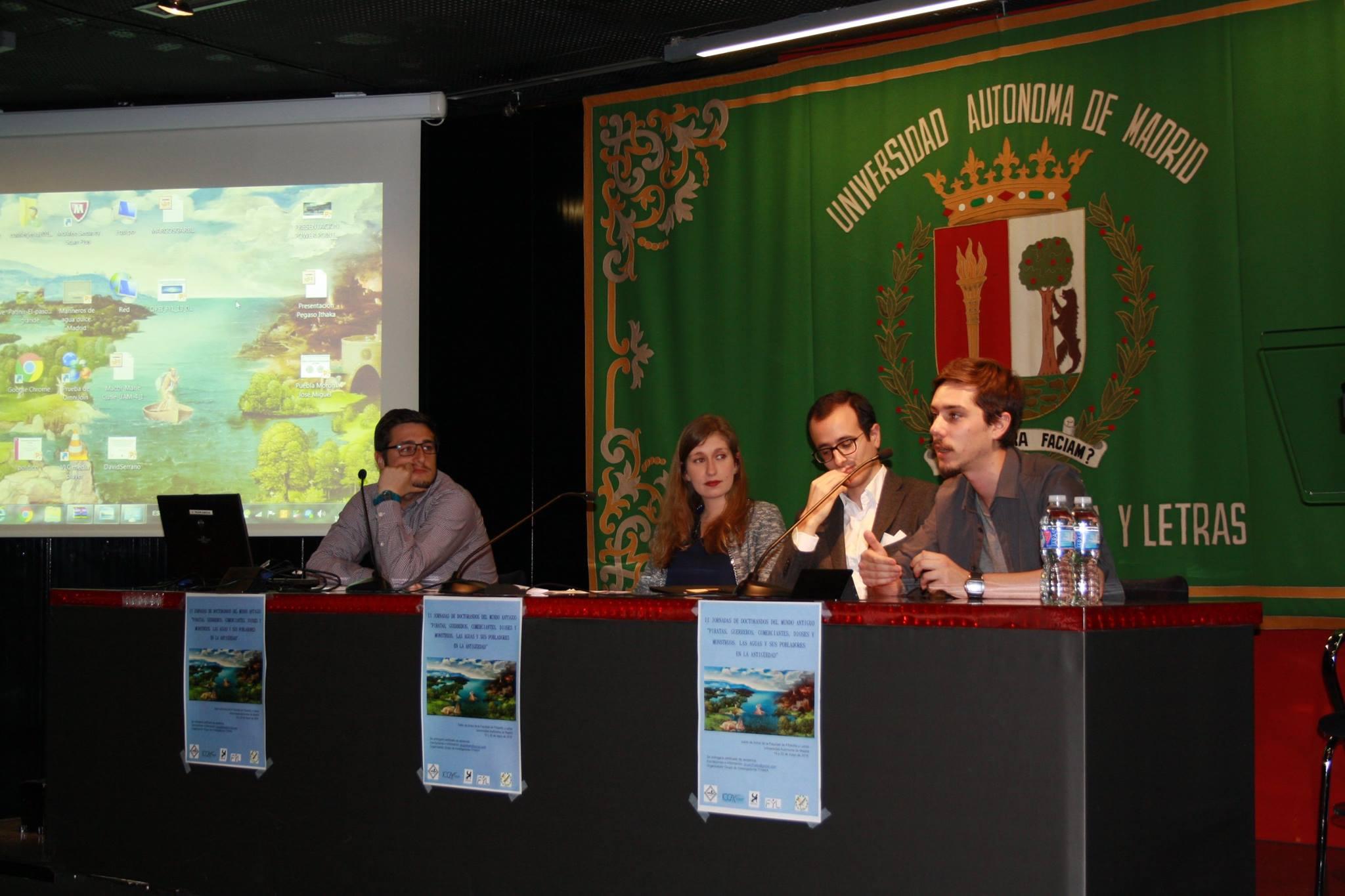 David Pareja Caballero, Aída Fernández Prieto, David Serrano Ordozgoiti y Gerard Cabezas Guzmán componían la mesa de la segunda sesión, que cerraba el primer día con un interesante debate (Fotografía de ...)
