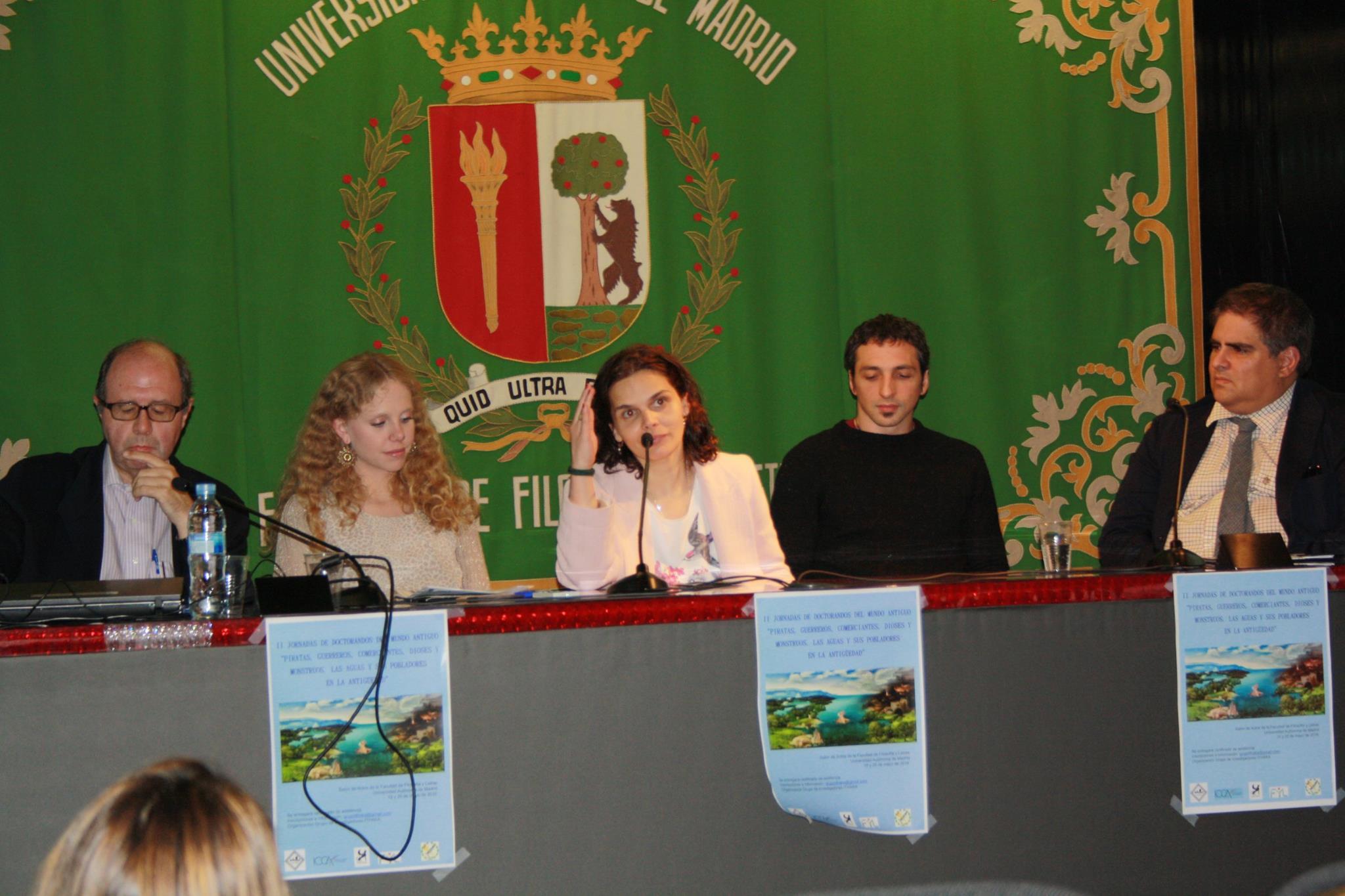 Adolfo Domínguez, Cristina Muñoz-Delgado, María del Mar Gabaldón, Santiago González e Hipólito Sánchiz (Fotografía de Marta Marchena)